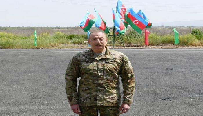 İlham Əliyev Ağdamda Şahbulaq qalasında