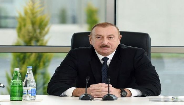 """İlham Əliyev """"Azərbaycan Xəzər Dəniz Gəmiçiliyi""""nin yeni inzibati binasının açılışında iştirak edib"""