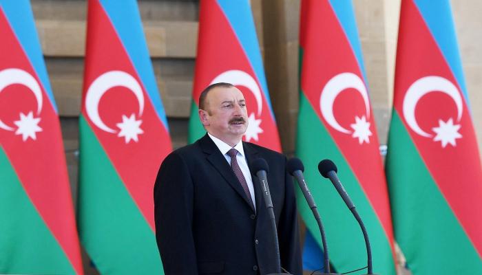 """İlham Əliyev: """"Biz öz torpağımızda vuruşuruq"""""""