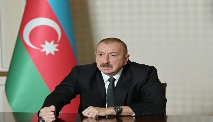 """İlham Əliyev: """"Çıxışlarımda statusun ünvanını göstərmişəm, status haradadır, onu hər kəs bilir"""""""