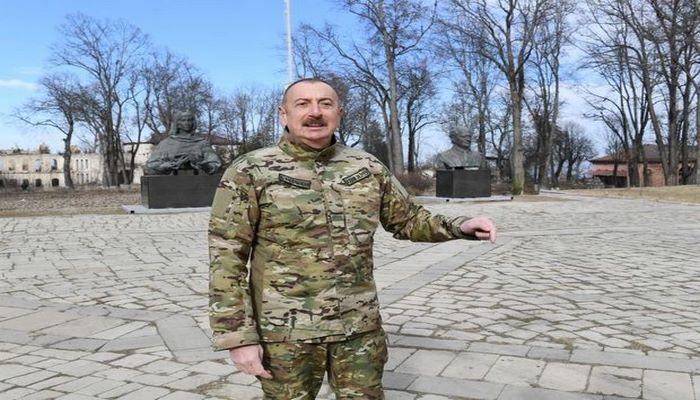 """İlham Əliyev: """"Dünən gecə Şuşada qalmağa qərar verdik"""""""
