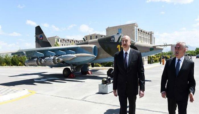 İlham Əliyev Naxçıvanda hərbi aerodromun açılışında iştirak edib