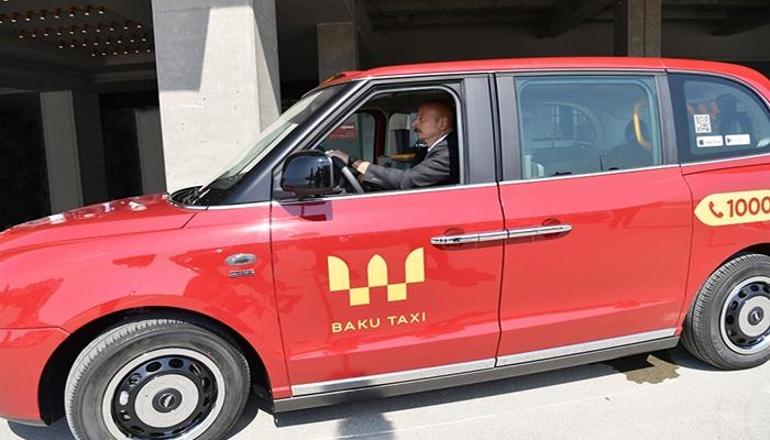 İlham Əliyev taksi sürdü