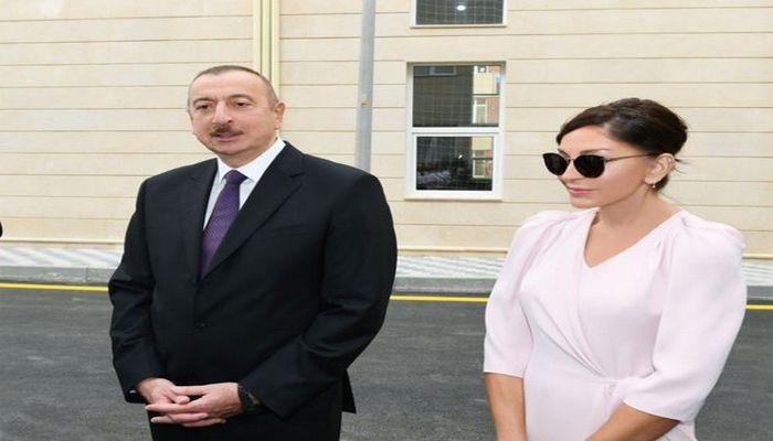 İlham Əliyev və Mehriban Əliyeva açılışda
