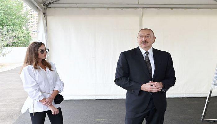 İlham Əliyev və Mehriban Əliyeva sosial obyektlərin açılışında iştirak etdilər