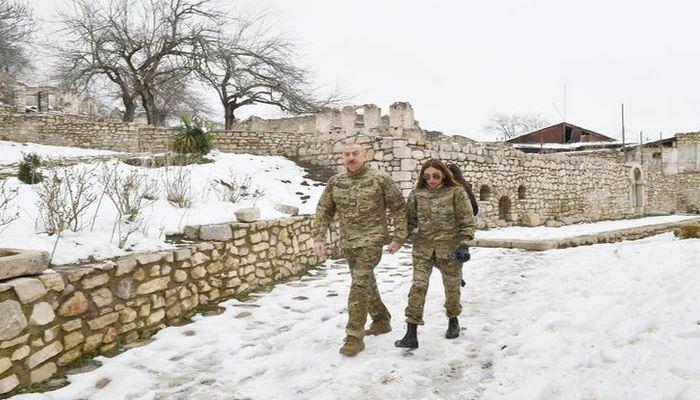 İlham Əliyev və Mehriban Əliyeva Şuşa şəhərində olublar