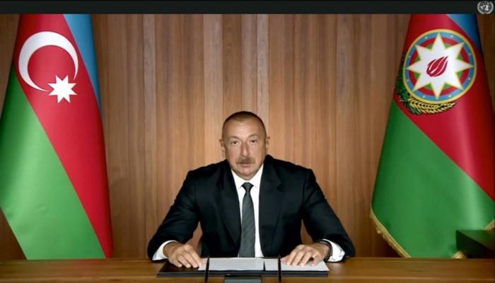 Президент Ильхам Алиев: Продолжающаяся сегодня пандемия COVID-19 еще раз демонстрирует важность мультилатерализма
