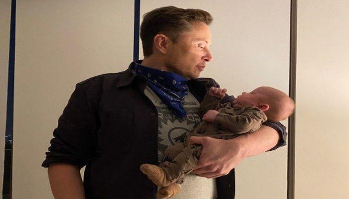 Илон Маск показал двухмесячного сына
