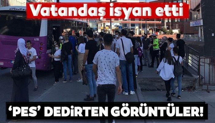İstanbul'da tıka basa dolu otobüsler pes dedirtti