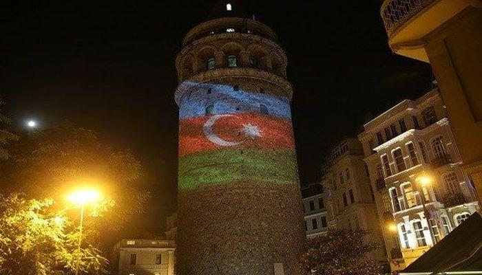İstanbulda və Ankarada məşhur məkanlar Azərbaycan bayrağı ilə işıqlandırıb
