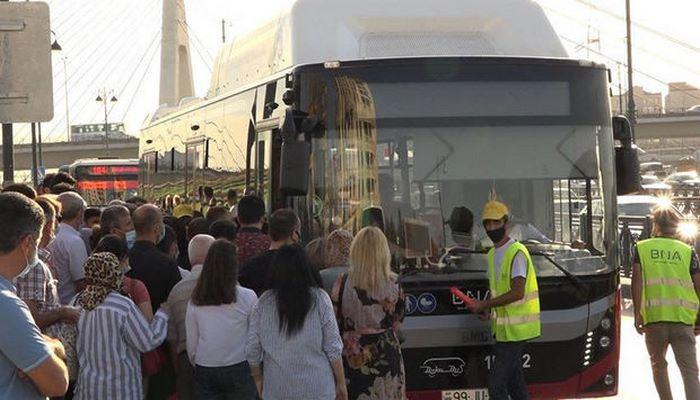 Karantin yumşaldıldı, avtobuslarda sıxlıq ikiqat artdı