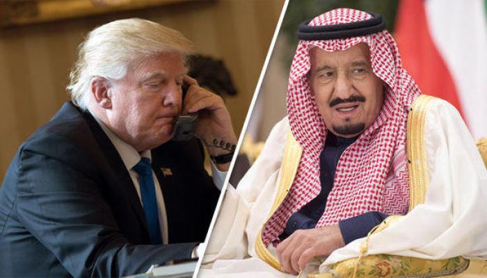 Трамп обсудил урегулирование на Ближнем Востоке с королем Саудовской Аравии