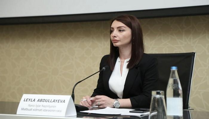 """Leyla Abdullayeva: """"Həmsədrlər Ermənistanı təxribatçı fəaliyyətdən çəkinməyə çağırmalıdır"""""""