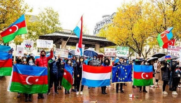 Lüksemburqda erməni vandalizminə etiraz
