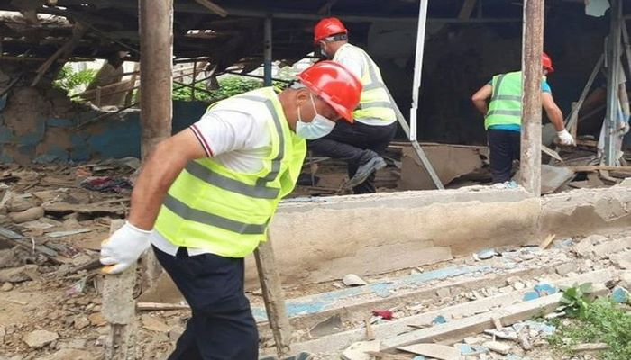МЧС: Начаты работы по ремонту и восстановлению домов, ставших аварийными в результате армянской провокации в Товузе