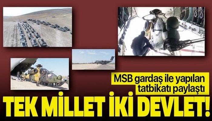Milli Savunma Bakanlığı Türkiye ve Azerbaycan ortak tatbikatı ile ilgili ilk görüntüleri paylaştı!