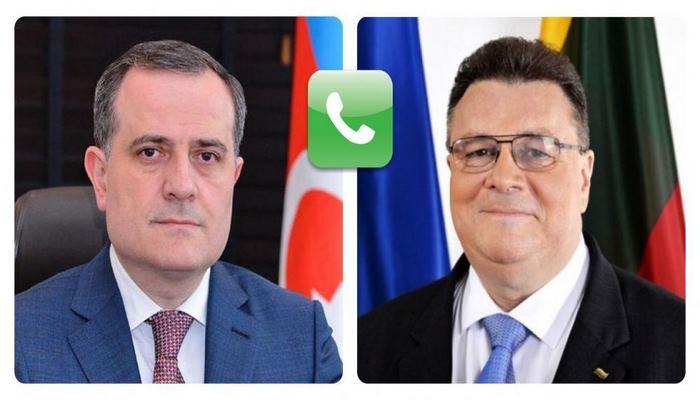 Министр иностранных дел Азербайджана провел телефонный разговор с литовским коллегой