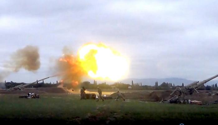 Ordumuz düşmən mövqelərinə artilleriya zərbələri endirir
