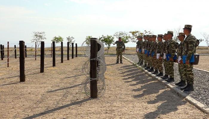 В Нахчыване прошли учебно-методические сборы с командирами инженерно-саперных отделений