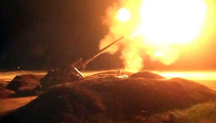Напряженные бои продолжались всю ночь - минобороны Азербайджана