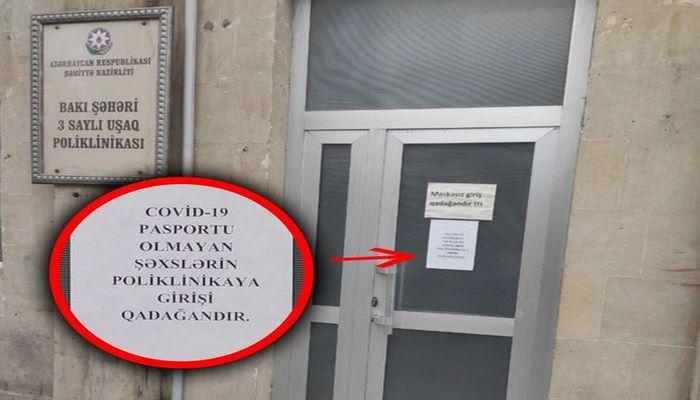 Poliklinikaya giriş üçün COVID-19 pasportu tələb edilir? - AÇIQLAMA