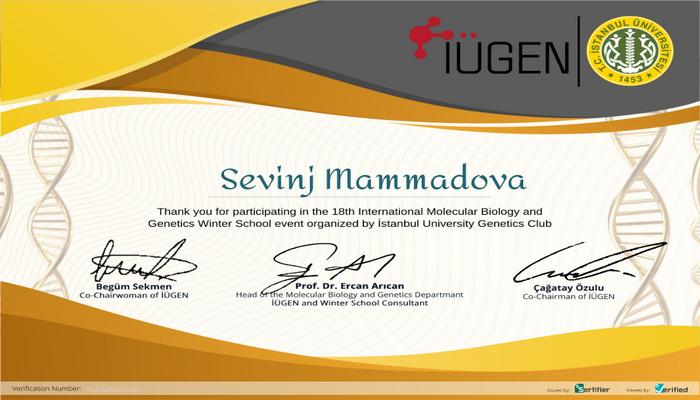 Преподаватель БГУ Севиндж Мамедова приняла участие в Международной зимней школе