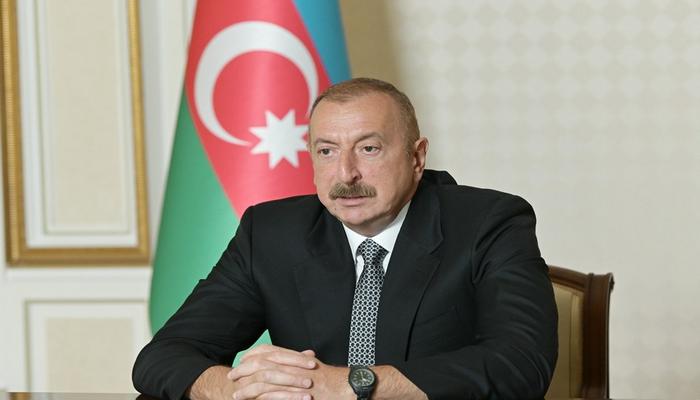 """Prezident: """"Azərbaycan Xəzər dənizinin Şərq sahilindən olan etibarlı tranzit ölkəyə çevrilib"""""""