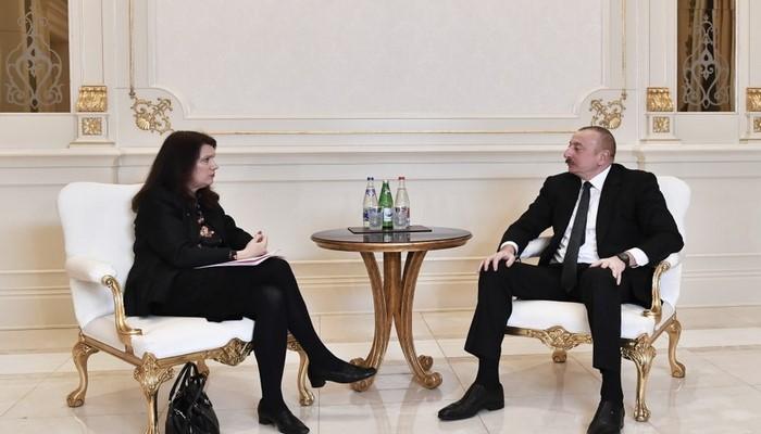 Prezident İlham Əliyev ATƏT sədrinin başçılıq etdiyi nümayəndə heyətini qəbul edib