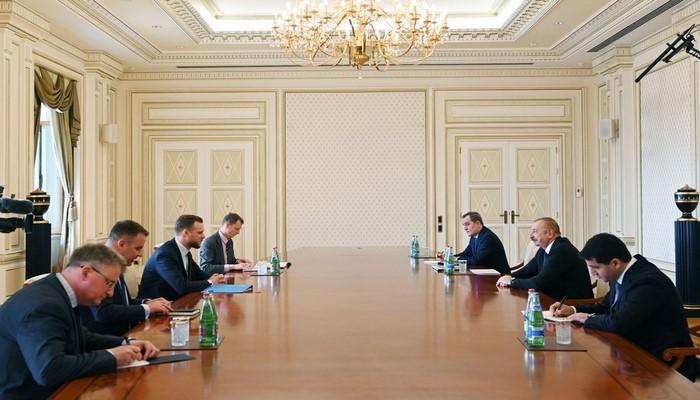 Prezident İlham Əliyev Litvanın xarici işlər nazirini qəbul edib
