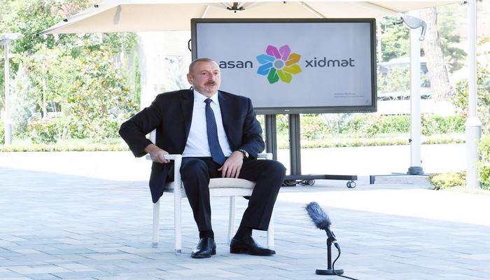 Президент Ильхам Алиев: Мы вернемся на родные земли и создадим в наших городах, которые сегодня находятся под оккупацией, центры ASAN xidmət