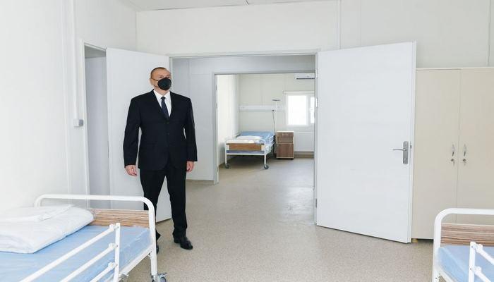 Президент Ильхам Алиев принял участие в открытии больницы модульного типа в Исмаиллы