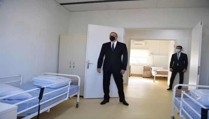 Prezident Qobustanda modul tipli xəstəxananın açılışında