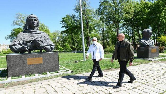 Prezident Şuşada Xüsusi nümayəndəliyin inzibati binası ilə tanış oldu