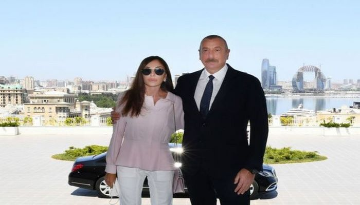 """Prezident və Mehriban Əliyeva Şuşada """"Qarabağ"""" hotelinin açılışında iştirak ediblər"""