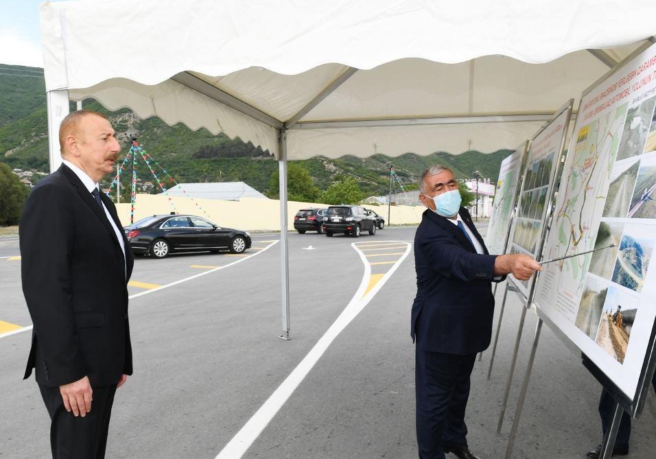 В Шеки состоялось открытие после реконструкции автодороги Гохмуг-Балталы-Бабаратма-Гарадаглы-Гудула-Дашуз
