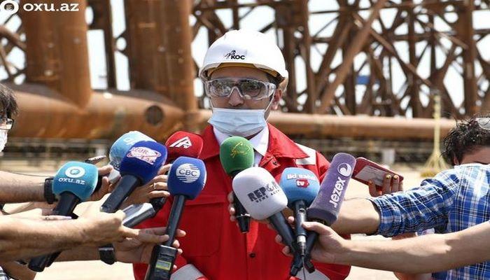 """""""Qarabağ"""" dayaq bloku bir ay ərzində dənizdə quraşdırılacaq - AÇIQLAMA"""