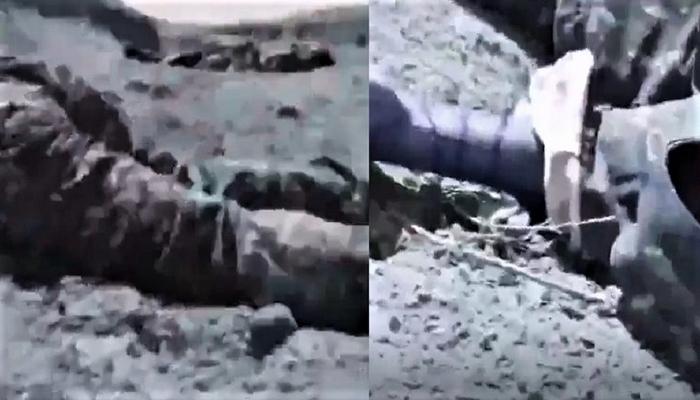 Qarabağda səngərə səpələnən erməni əsgərlərinin meyitləri