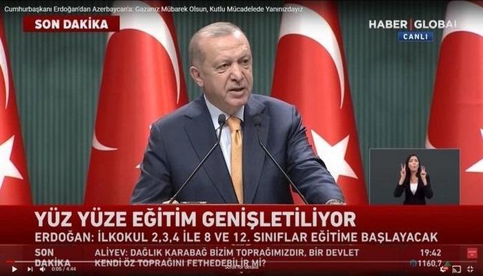 """Rəcəb Tayyip Ərdoğandan Azərbaycan ordusuna: """"Qəzanız mübarək olsun!"""""""