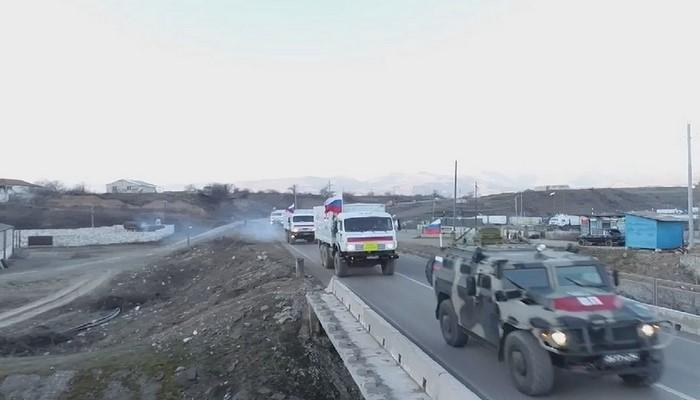 Rusiya sülhməramlıları Kəlbəcərə 150 ton humanitar yardım gətirib