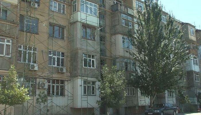 Şəhid general Polad Həşimovun yaşadığı bina təmir olunur