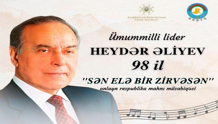 """""""Sən elə bir zirvəsən"""" mahnı müsabiqəsi yekunlaşıb"""