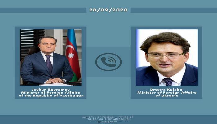 Состоялся телефонный разговор главы МИД Азербайджана с украинским коллегой