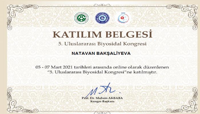 Студентка БГУ сделала доклад на V Международном биоцидном конгрессе