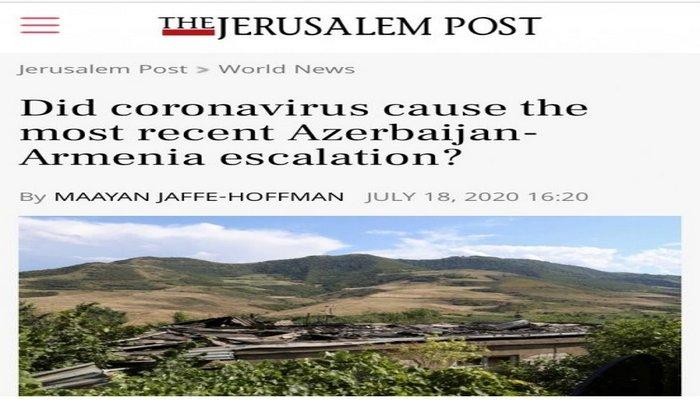 """""""The Jerusalem Post"""" son hadisələrdən yazdı: """"Məhz bu səbəbdən Tovuzu seçiblər"""""""