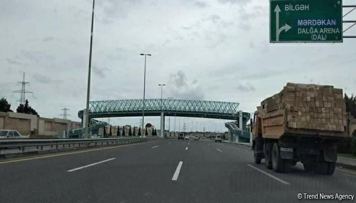 Пешеходный переход над трассой Мардакян-Загульба будет сдан в эксплуатацию в ближайшие дни