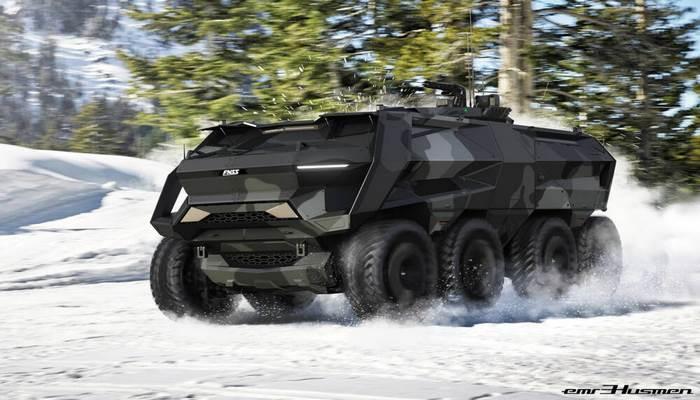 Türk dizaynerinin hazırladığı hərbi maşın mükafat qazandı