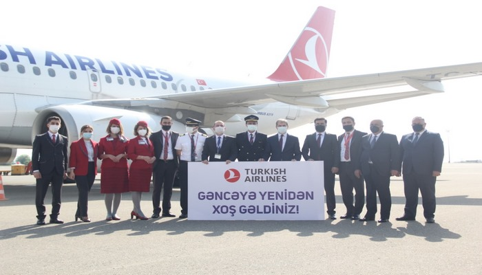 """""""Türk Hava Yolları"""" Gəncəyə uçuşları bərpa edib"""