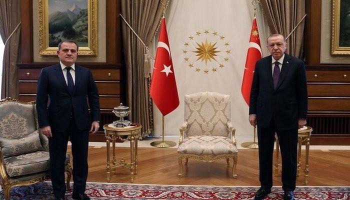 Türkiyə prezidenti Ceyhun Bayramovu qəbul etdi