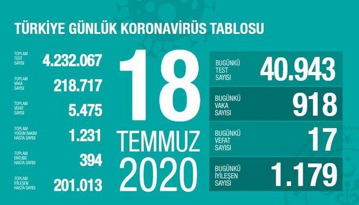 Türkiyədə bu gün koronavirusdan 17 nəfər ölüb