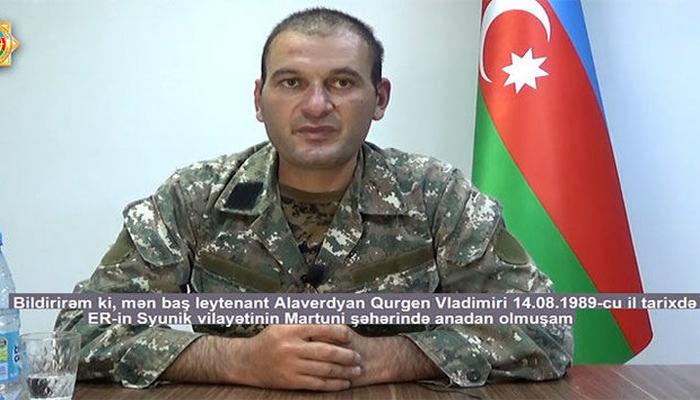 """Tutulan erməni komandir danışdı: """"İşğal altındakı Azərbaycan torpaqlarında xidmət etmək istəməmişəm"""""""